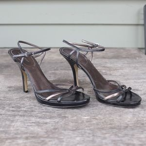 "Nine West Strappy 4"" Heels - Black and Bronze"